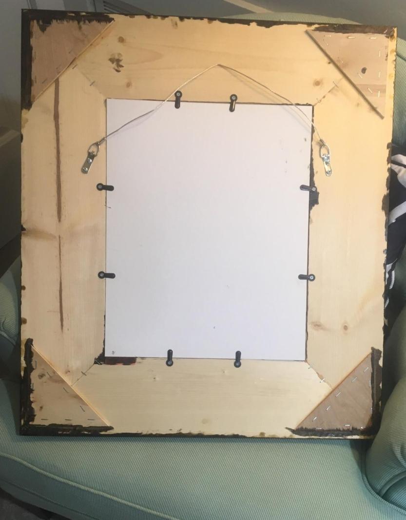 Completed frame back