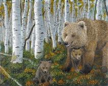 Momma Bear 16x20 oil on canvas